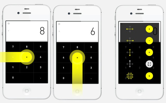 Check out this experimental gesture based calculator for the iPhone