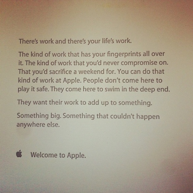 Apple Inspires Its Employees With Simple Things, Like This Note