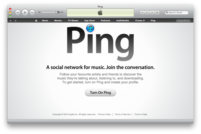 Ping: Getting The Boot With Apples Next Major iTunes Update