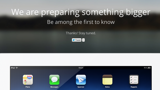 Sparrow Teases The Masses With iPad App References