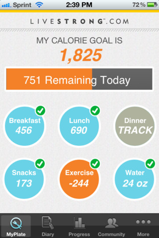 LIVESTRONG MyPlate Calorie Counter