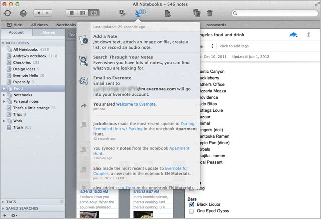 Evernote For Mac Now Includes Activity Stream, Retina Support