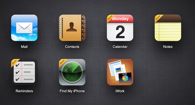 iCloud Beta Adds New Web Apps Beta