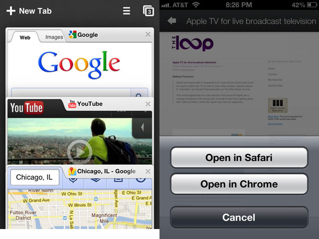 Google+ App Can Open Links In Chrome For iOS
