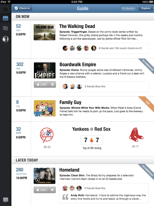 GetGlue Releases New Personalized Social TV Guide App For iPad