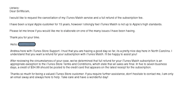 Apple Refunds Disgruntled User After He Asked Nicely