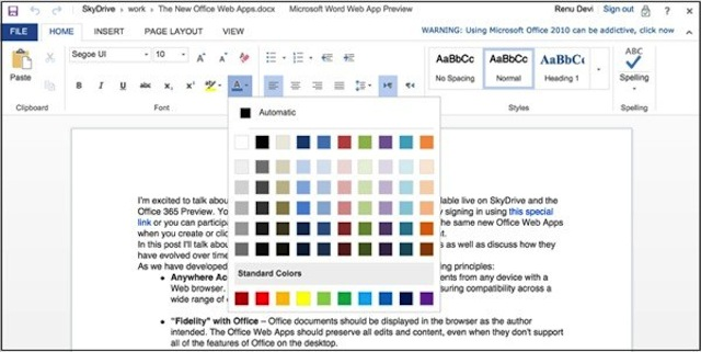 Office For Web Becomes iPad Compatible, Gives Us A Glimpse Of Office 2013