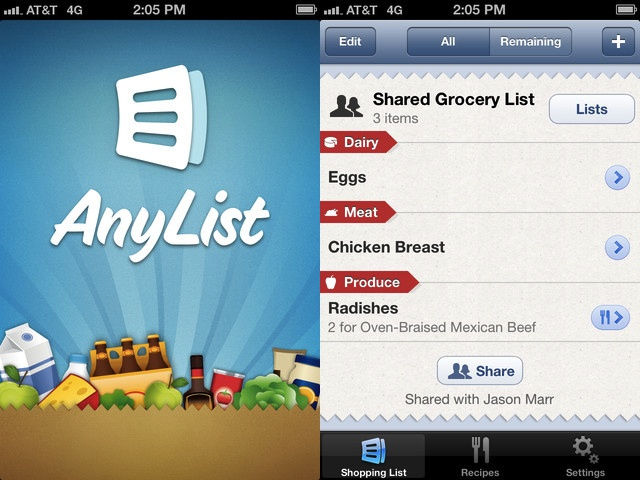Apps Of The Week: AnyList Grocery List, On The Table, Skitch & Rayman Jungle Run