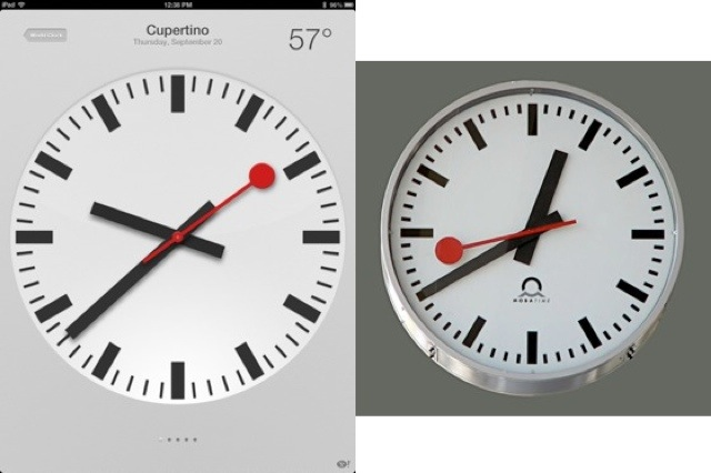 Swiss Federal Railway Claims Apple Ripped Off Its Clock Design, Probably Right