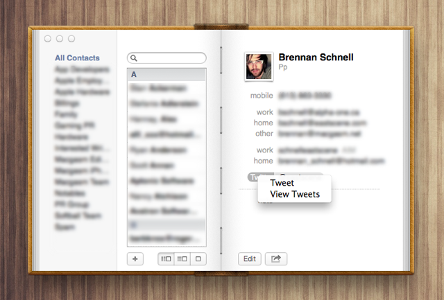 Tip: You Can @ Reply People On Twitter Directly From The Contacts App