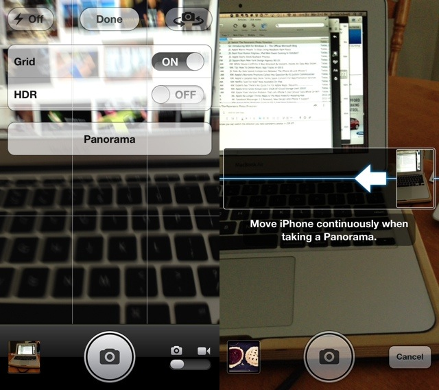 Tip: Switch The iOS 6 Panoramic Photo Direction