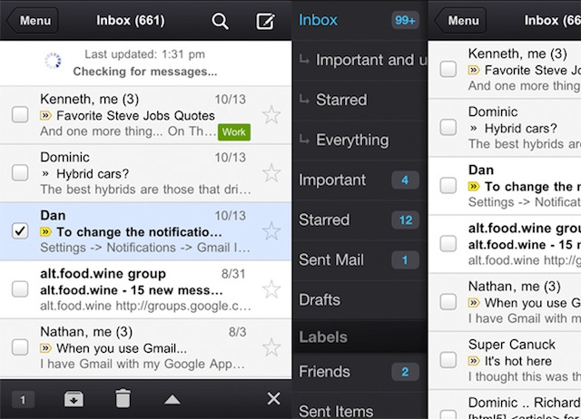 Gmail For iOS Updated With More Speed, Photo Saving