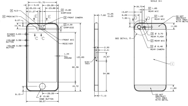 Check Out This Full Schematic For The Iphone 5 Published